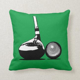 Golfboll och klubb kudde