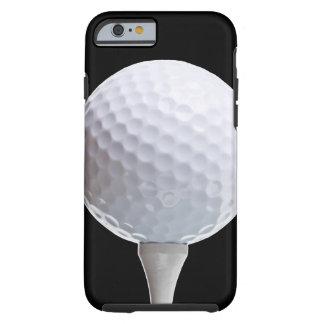 Golfboll och utslagsplats på den skräddarsy tough iPhone 6 fodral
