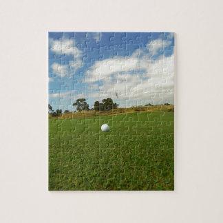Golfboll på grönten, pussel