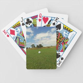 Golfboll på grönten, spelkort