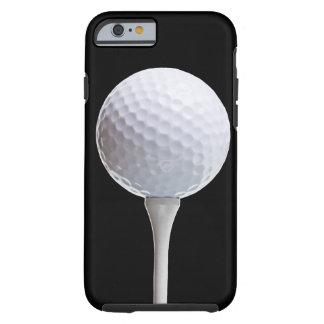 Golfboll på svarten - skräddarsy mall tough iPhone 6 fodral