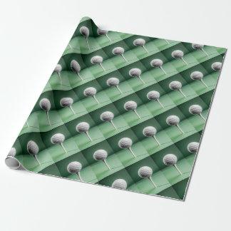 Golfboll på utslagsplats presentpapper