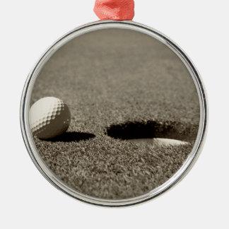 Golfboll Rund Silverfärgad Julgransprydnad