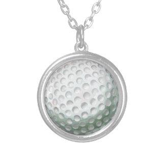 Golfboll Silverpläterat Halsband