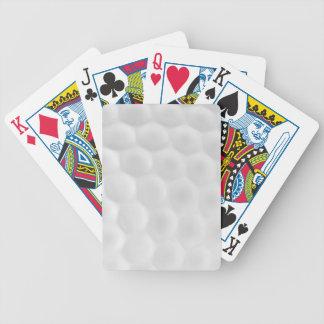 Golfboll som leker kort spelkort