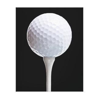 Golfboll & utslagsplats på svarten - skräddarsy canvastryck