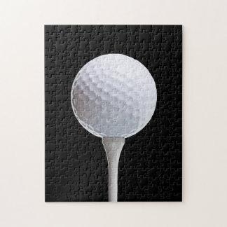 Golfboll & utslagsplats på svarten - skräddarsy pussel