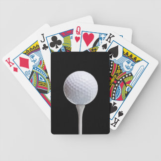 Golfboll & utslagsplats på svarten - skräddarsy spelkort