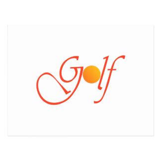 Golfboll Vykort