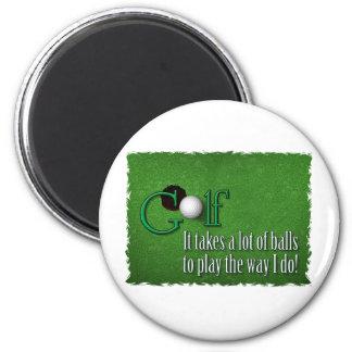 golfbollar magnet