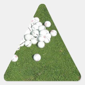 Golfbollar Triangelformat Klistermärke