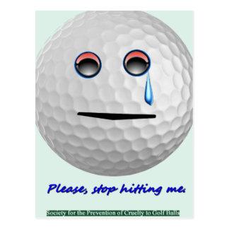 Golfbollen - behaga stoppet som slår mig vykort