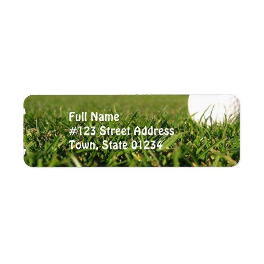 Golfbollen jagar på brevskickandeetiketter returadress etikett