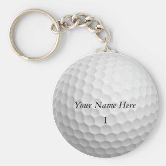 Golfbollen Keychain skräddarsy det med DITT NAMN Rund Nyckelring