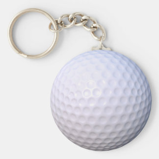 Golfbollen knäppas nyckelringen rund nyckelring