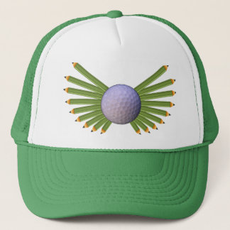 Golfbollen ritar vingar keps