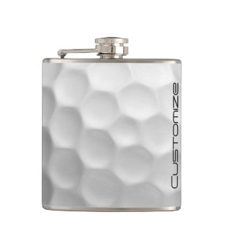 Golfbollflaska med personlignamn fickplunta