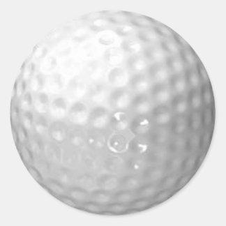 golfbollklistermärkear runt klistermärke