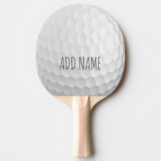 Golfbollskrattgropar med anpassningsbarnamn pingisracket