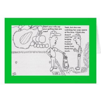 Golffödelsedagkort Hälsningskort