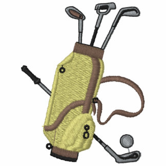 Golfklubbar broderade skjortan polo tröja