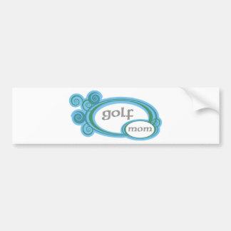Golfmamman virvlar runt bildekal