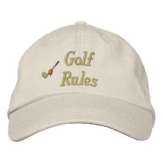 Golfregler broderade hatten hatt