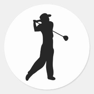 golfspelare runt klistermärke
