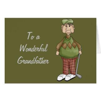 GolfspelGranddaddesign Hälsningskort