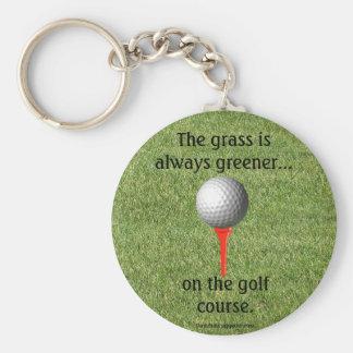 Golfspelkeychain Rund Nyckelring