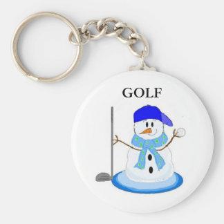 Golfspelsnögubbe Rund Nyckelring