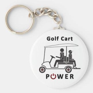 Golfvagnen driver rund nyckelring