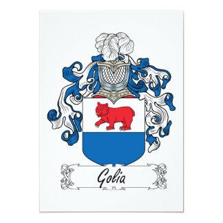 Golia familjvapensköld 12,7 x 17,8 cm inbjudningskort