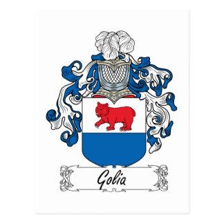 Golia familjvapensköld vykort