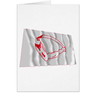 Goliad flagga hälsningskort