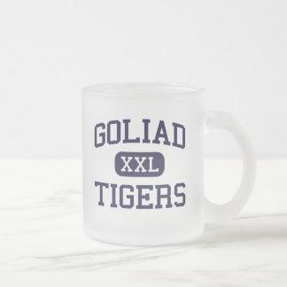 Goliad - tigrar - högstadium - Goliad Texas Frostad Glas Mugg
