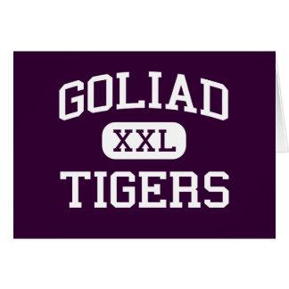 Goliad - tigrar - högstadium - Goliad Texas Hälsningskort