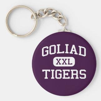Goliad - tigrar - högstadium - Goliad Texas Rund Nyckelring