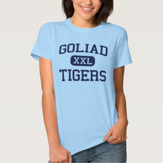 Goliad - tigrar - högstadium - Goliad Texas T-shirt