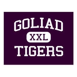 Goliad - tigrar - högstadium - Goliad Texas Vykort