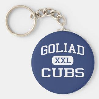 Goliad ungemellanstadium Goliad Texas Rund Nyckelring