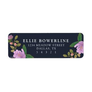 Golightly blommigt returadress etikett