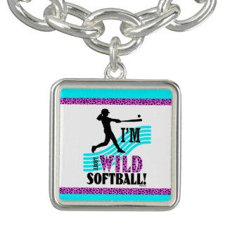 Golly flickor: Mig förmiddagVILD om softball Berlockarmband