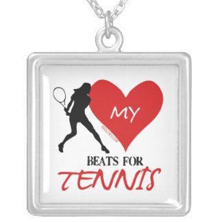 Golly flickor - min hjärtatakter för tennis silverpläterat halsband