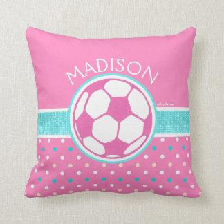 Golly flickor: Rosor och krickafotboll klumpa ihop Kudde