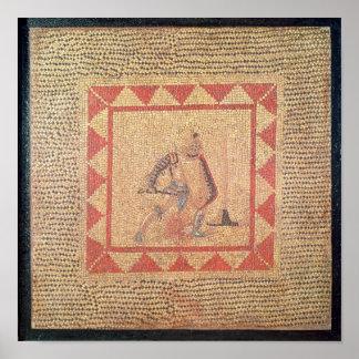 Golv som visar en gladiator, från Flace Poster