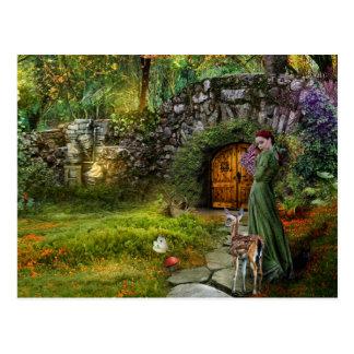 Gömd trädgårds- vykort