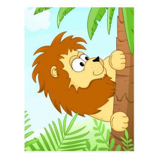 Gömma som är lejont vykort