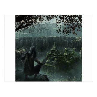 Gömmd abstrakt stad vykort