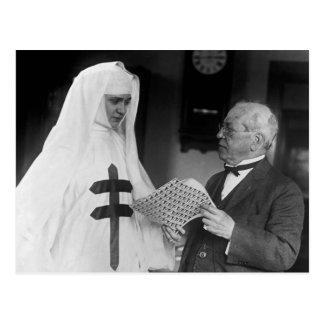 Gompers köper julsälar: 1923 vykort
